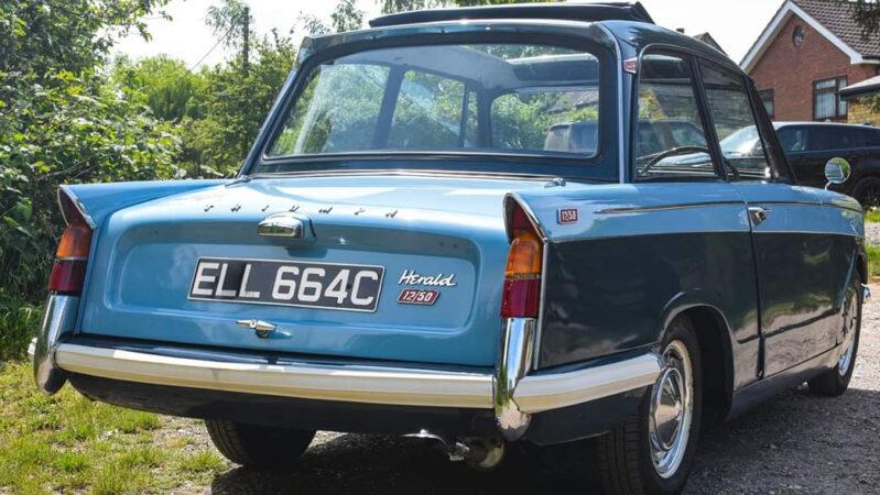 Triumph Herald 12/50 Saloon wedding car for hire in Basildon, Essex
