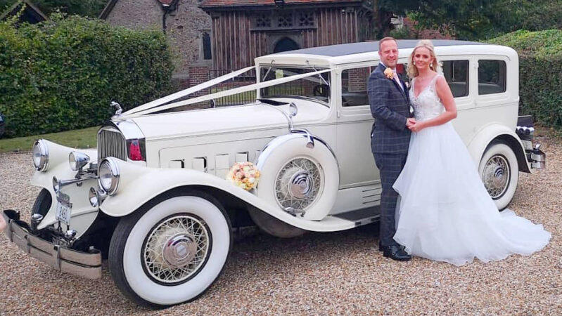 Pierce Arrow Limousine wedding car for hire in Basildon, Essex