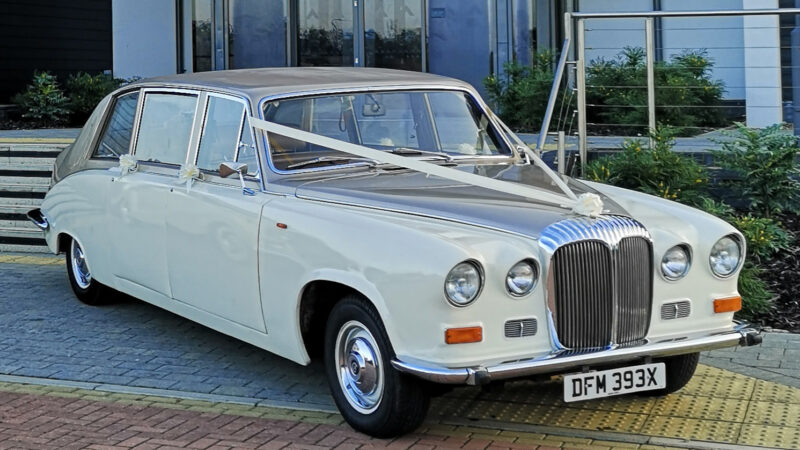 Daimler DS420 Limousine wedding car for hire in Basildon, Essex