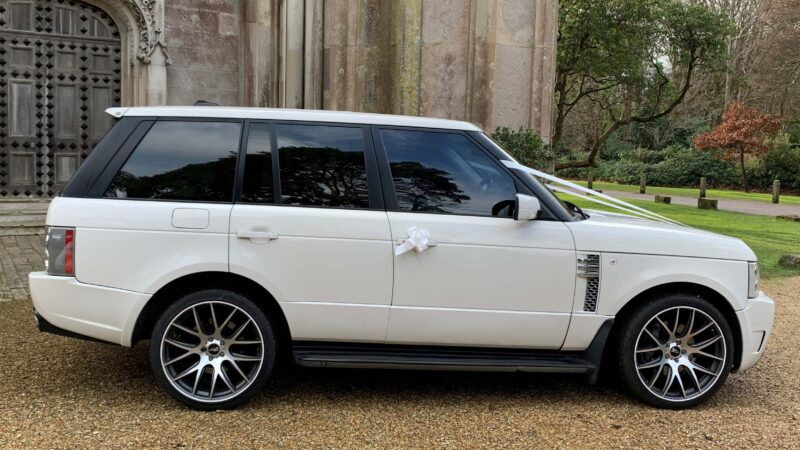 Range Rover Vogue Overfinch wedding car for hire in Christchurch, Dorset