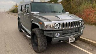 Hummer H2 wedding car for hire in Portsmouth, Hampshire
