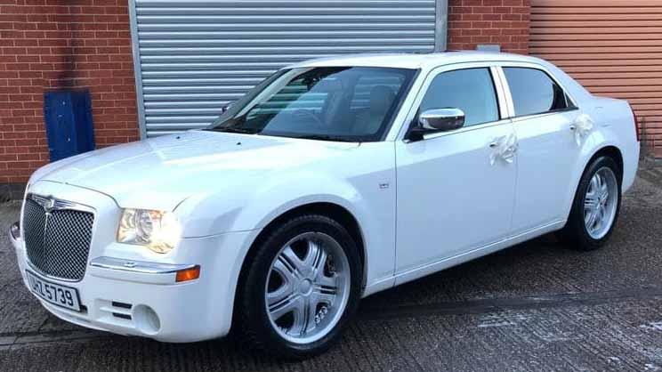 Chrysler 300c wedding car for hire in Birmingham, West Midlands