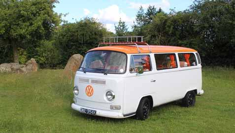 Volkswagen Camper Van T2 wedding car for hire in Stourbridge, West Midlands