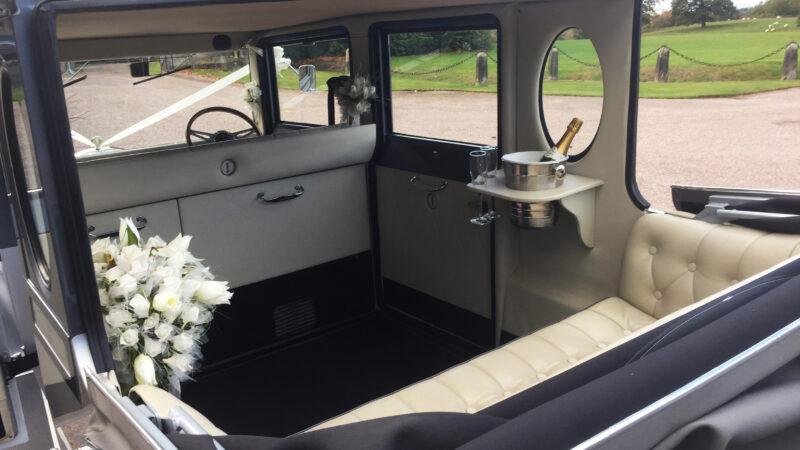 Imperial Landaulette wedding car for hire in Stafford, Staffordshire