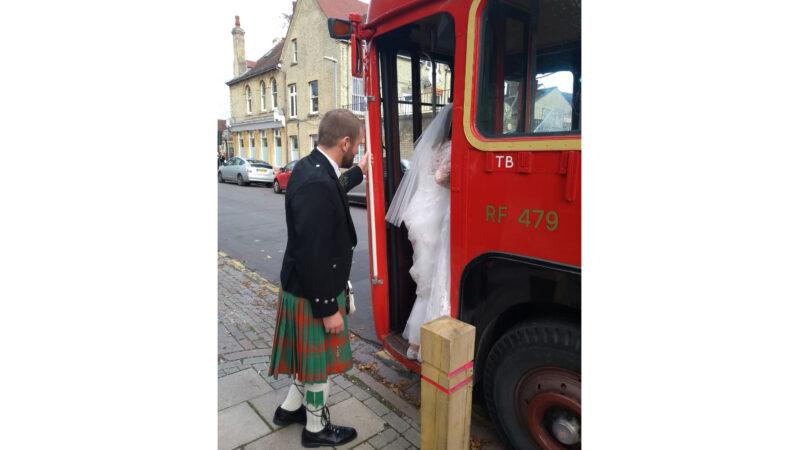 RF Single Decker Bus wedding car for hire in Reading, Berkshire