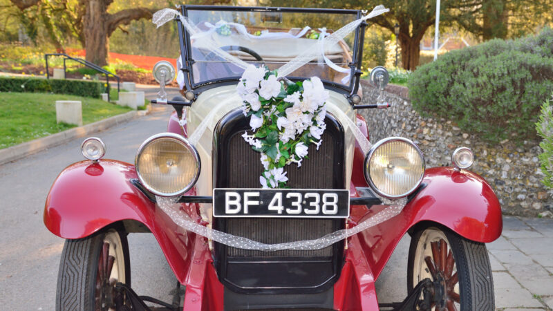 Chevrolet Capitol AA Convertible wedding car for hire in Winchester, Hampshire