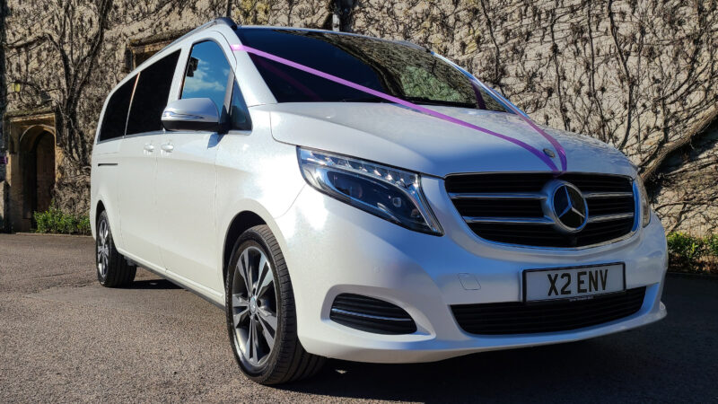 Mercedes V-Class wedding car for hire in Bristol