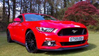 Ford Mustang V8 GT wedding car for hire in Wigan, Lancashire