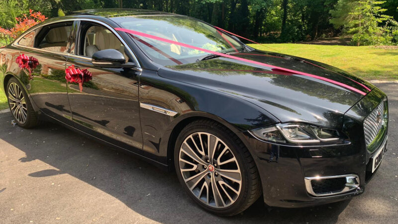 Jaguar XJ LWB Autobiography wedding car for hire in Faversham, Kent