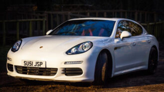 Porsche Panamera S E-Hybrid wedding car for hire in Faversham, Kent