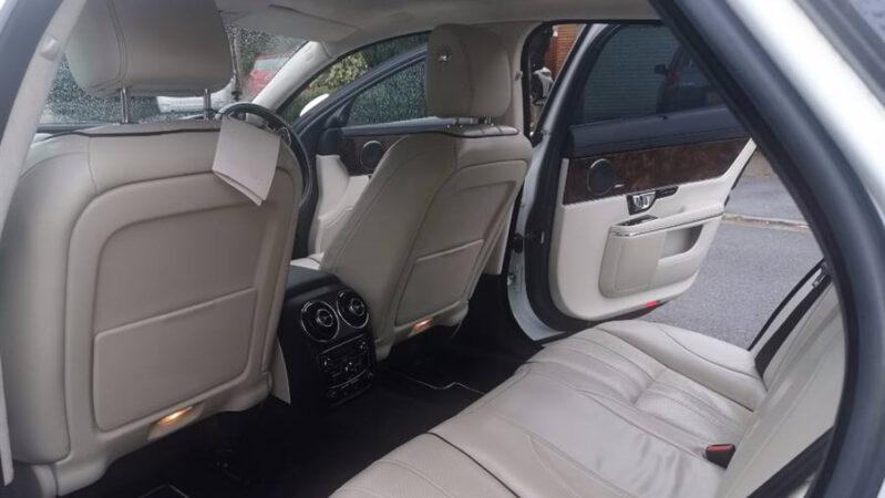 Jaguar XJ V6 Supercharged LWB wedding car for hire in Chippenham, Wiltshire