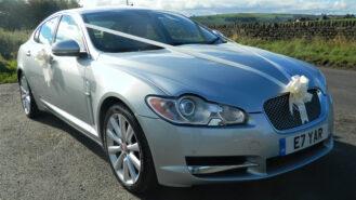 Jaguar XF wedding car for hire in Huddersfield, West Yorkshire