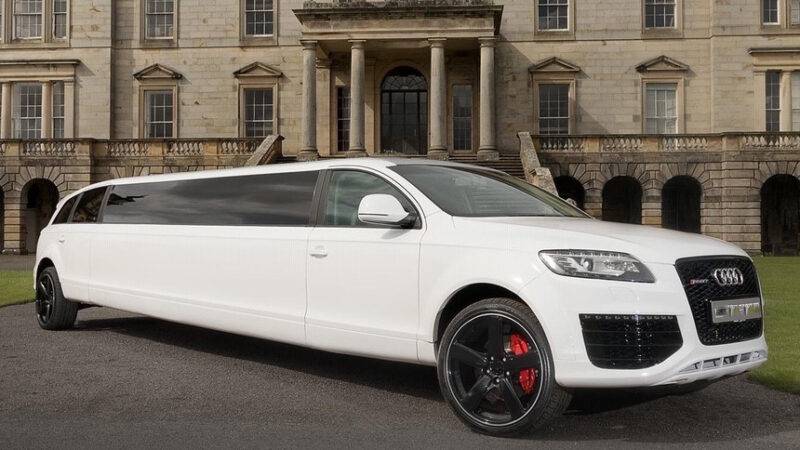 Audi Q7 Stretched Limousine wedding car for hire in Bradford, West Yorkshire