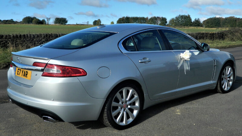Jaguar XF wedding car for hire in Huddersfield, West Yorkshire