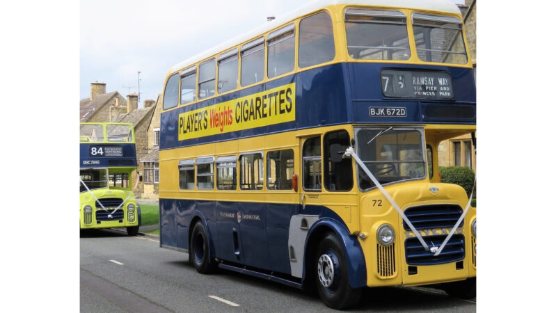 Leyland PD2 Double Deck Bus wedding car for hire in Moreton-in-Marsh, Gloucestershire