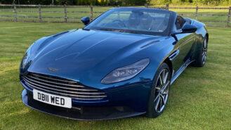 Aston Martin DB11 Convertible wedding car for hire in Newbury, Berkshire