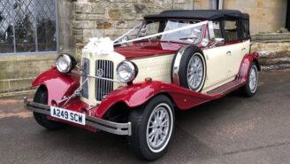 Beauford 4 Door Convertible wedding car for hire in Reading, Berkshire